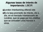 algunas tasas de inter s de importancia libor