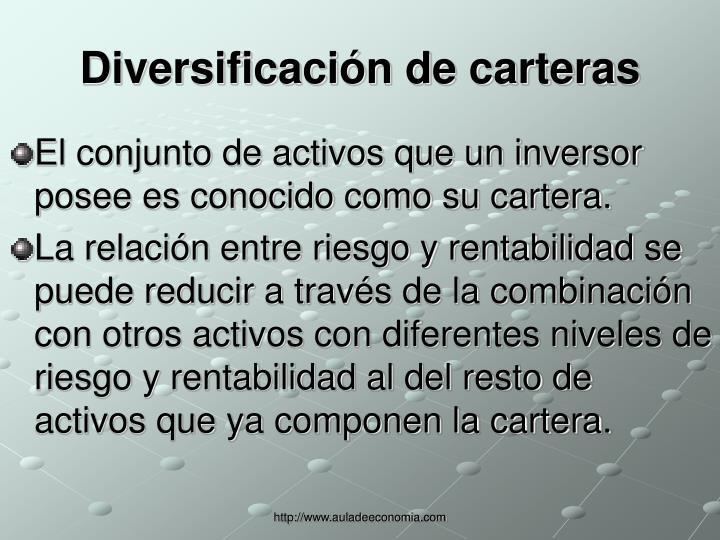 Diversificación de carteras