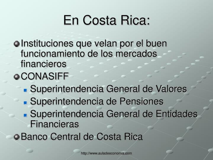 En Costa Rica: