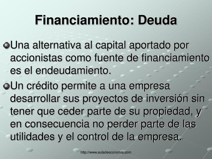 Financiamiento: