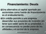 financiamiento deuda