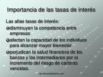importancia de las tasas de inter s1