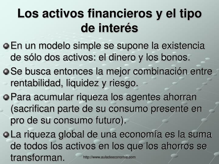 Los activos financieros y el tipo de interés