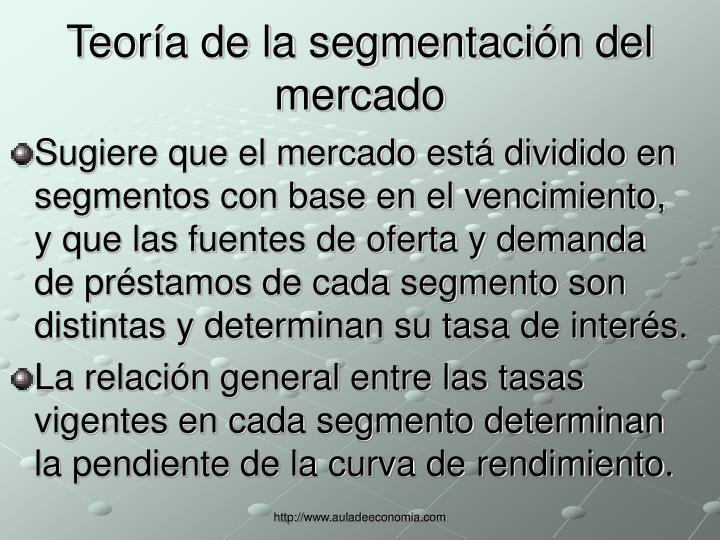 Teoría de la segmentación del mercado