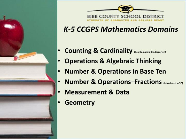 K-5 CCGPS Mathematics Domains