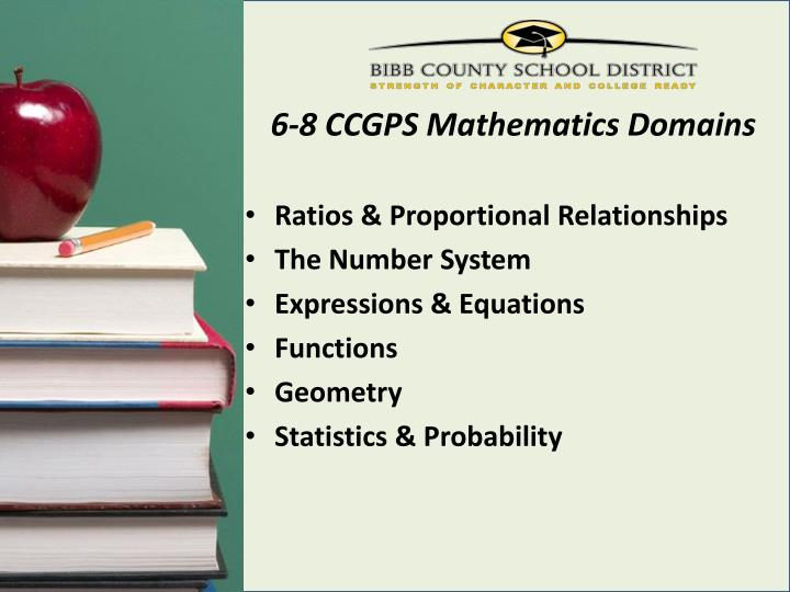 6-8 CCGPS Mathematics Domains