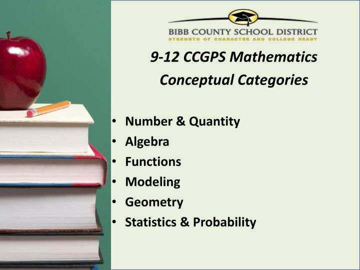 9-12 CCGPS Mathematics