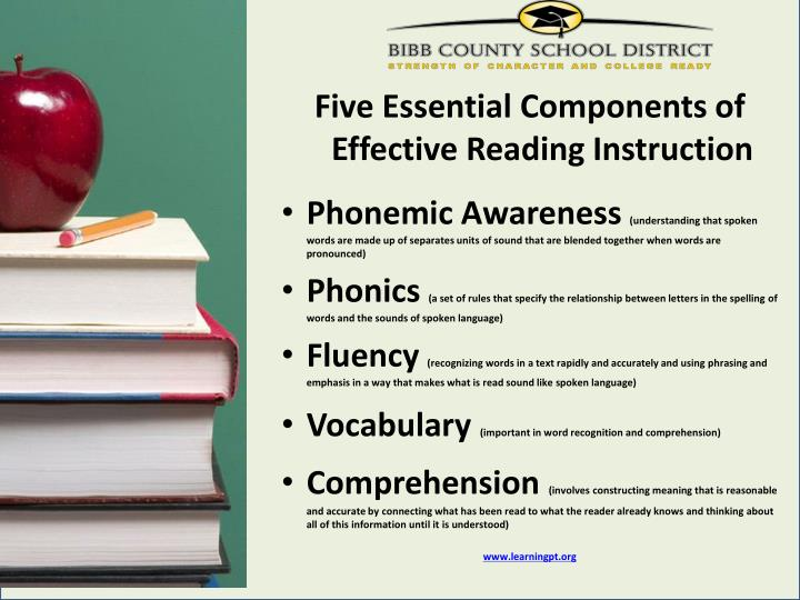 Five Essential Components of  Effective Reading Instruction