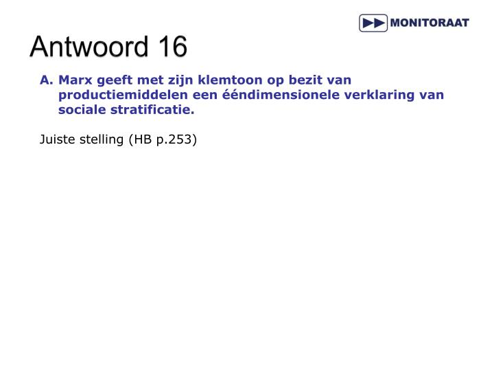 Antwoord 16