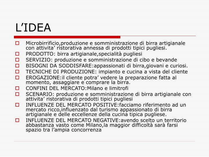 L'IDEA