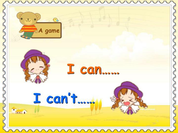 I can……