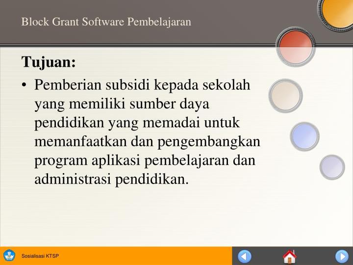 Block Grant Software Pembelajaran