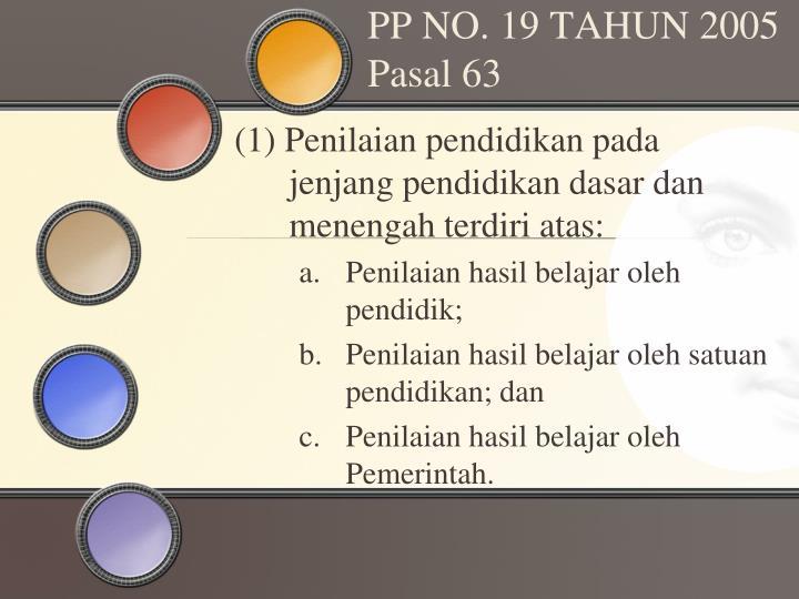 PP NO. 19 TAHUN 2005