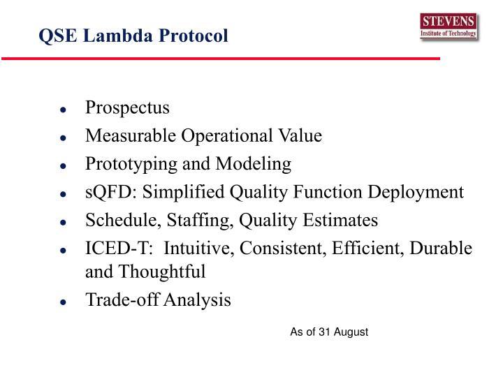 QSE Lambda Protocol