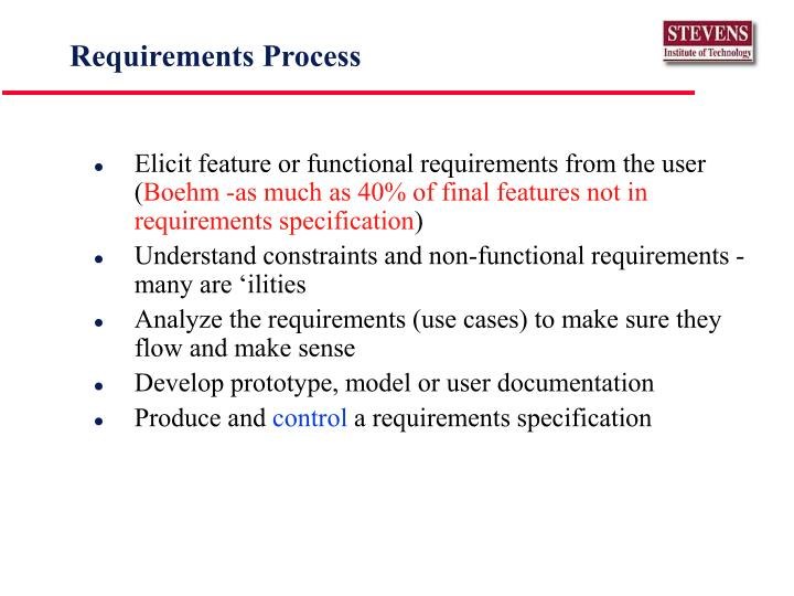 Requirements Process