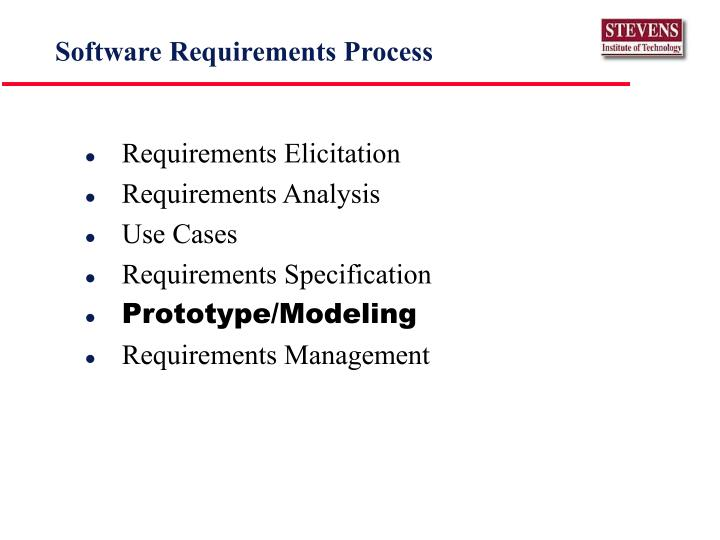 Software requirements process