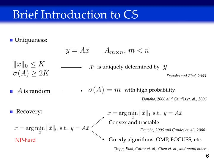 Brief Introduction to CS