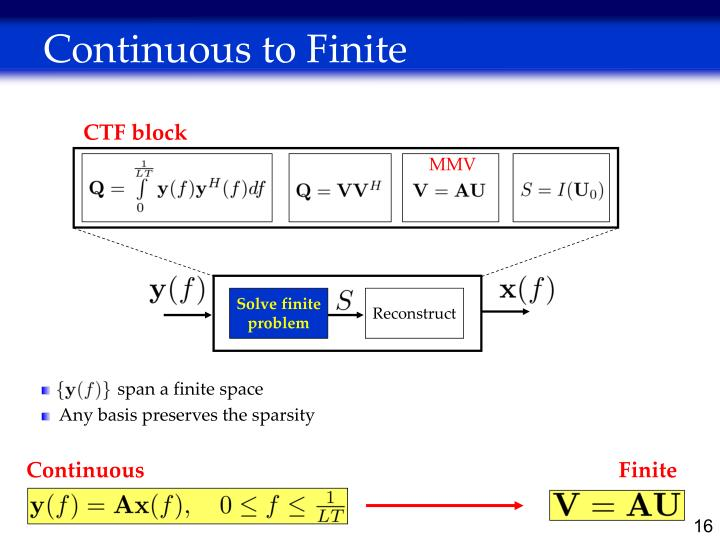 Continuous to Finite