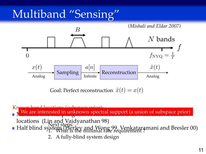 """Multiband """"Sensing"""""""