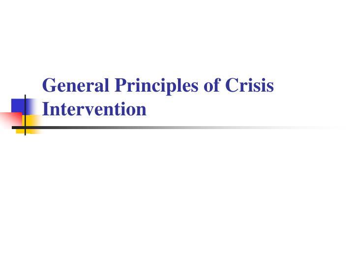 General Principles of Crisis