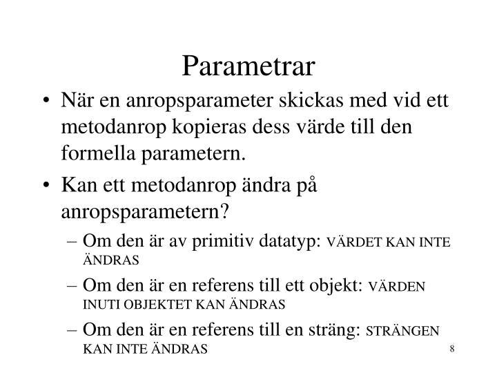 Parametrar