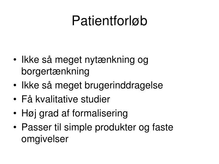Patientforløb