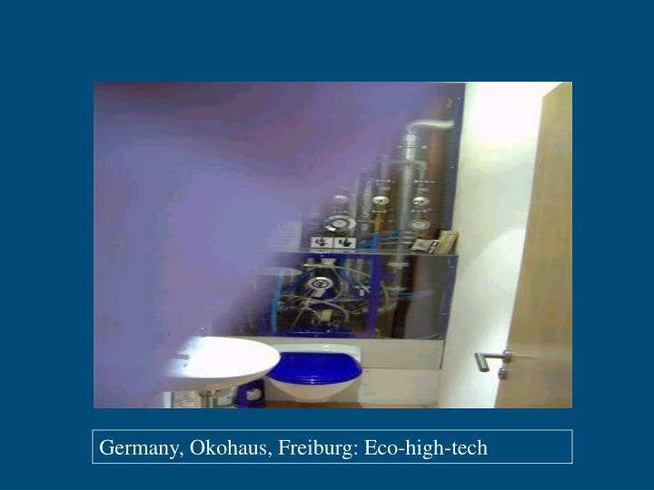 Germany, Okohaus, Freiburg: Eco-high-tech