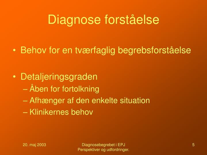 Diagnose forståelse
