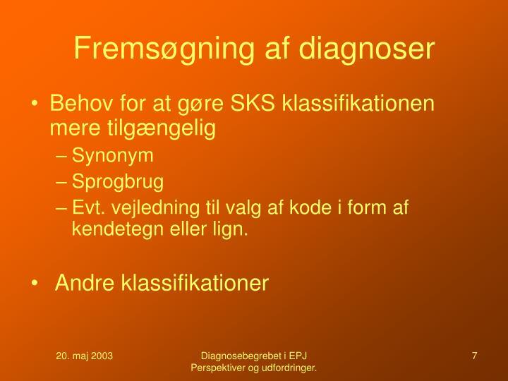 Fremsøgning af diagnoser