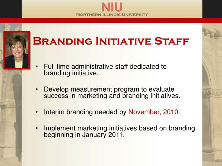 Branding Initiative Staff