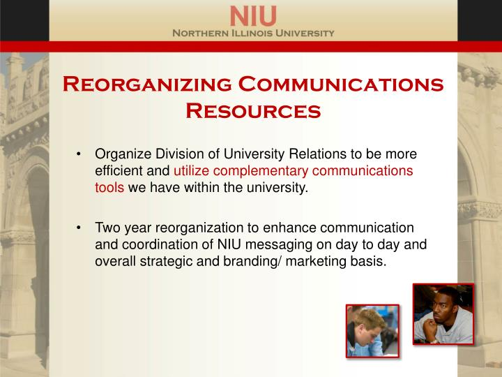 Reorganizing Communications