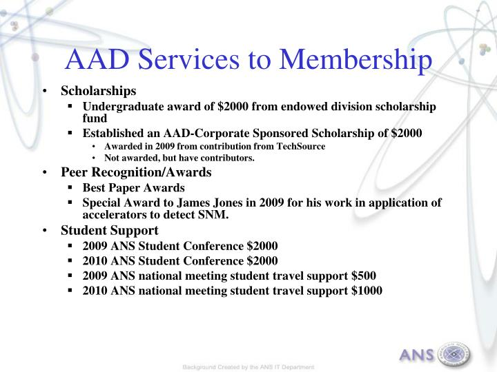 AAD Services to Membership
