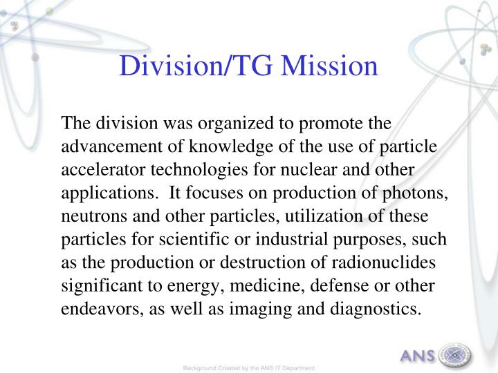Division tg mission