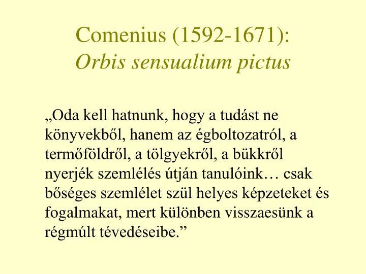 Comenius (1592-1671):