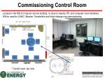commissioning control room