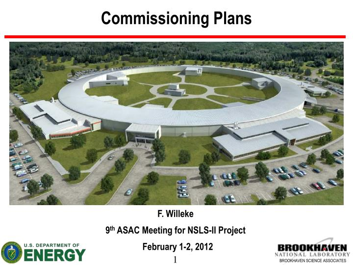 commissioning plans