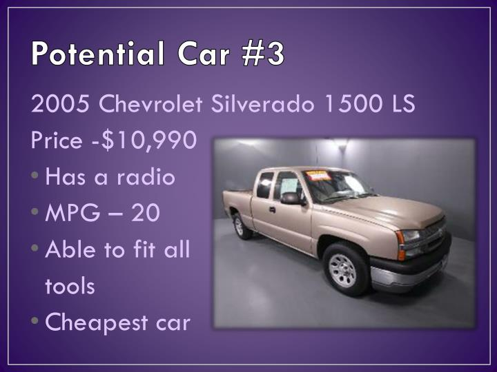 Potential Car #3