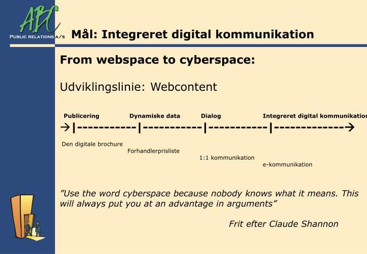 Mål: Integreret digital kommunikation