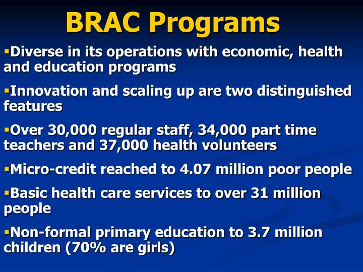 BRAC Programs