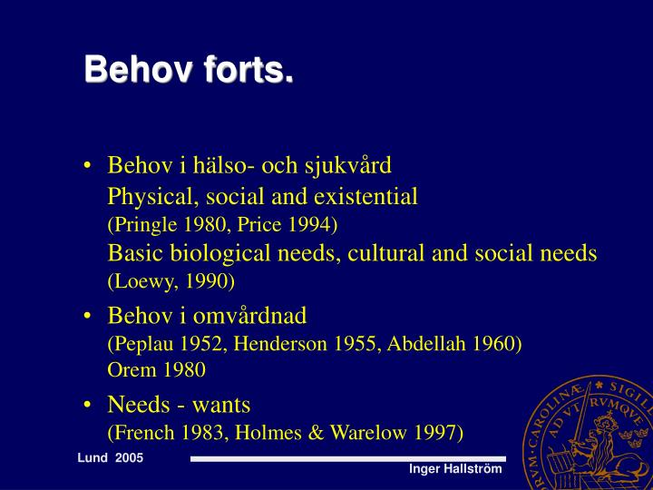 Behov forts.
