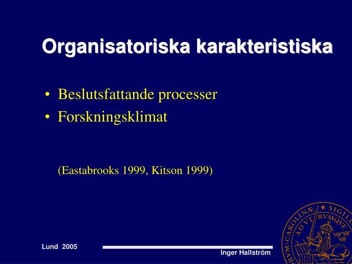 Organisatoriska karakteristiska