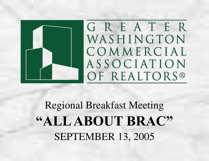 Regional Breakfast Meeting