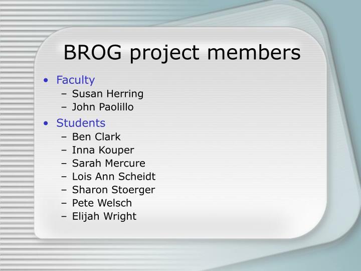 BROG project members