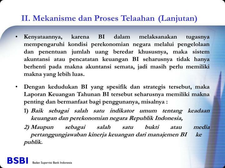 II. Mekanisme dan Proses Telaahan