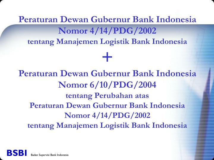 Peraturan Dewan Gubernur Bank Indonesia