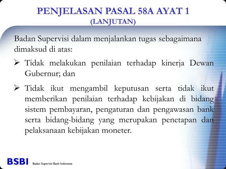 PENJELASAN PASAL 58A AYAT 1