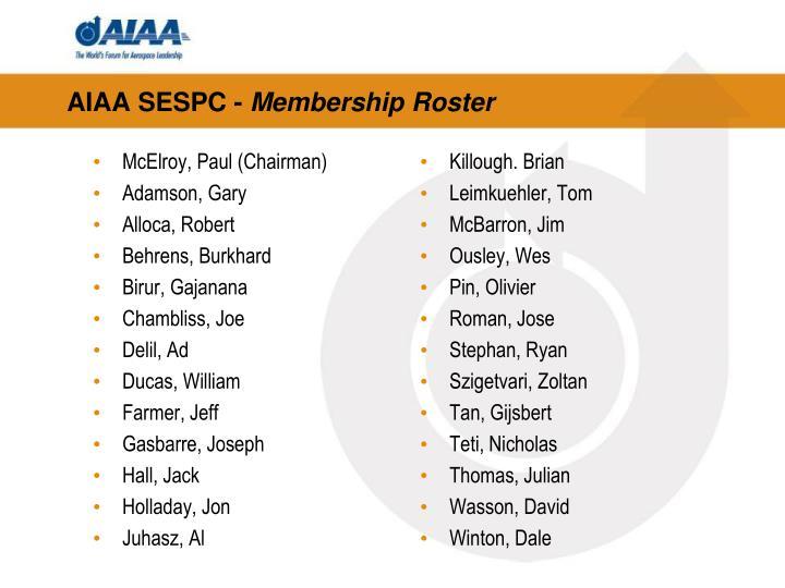 AIAA SESPC -
