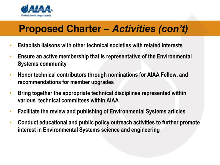 Proposed Charter –