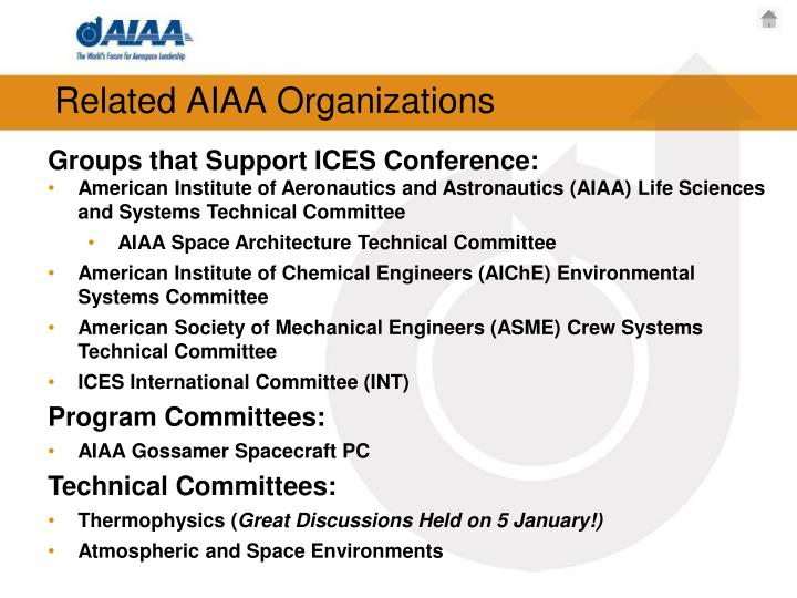 Related AIAA Organizations
