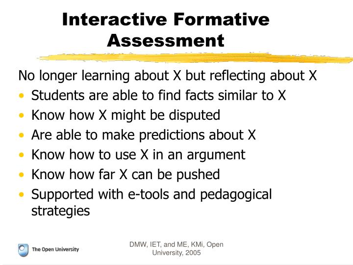 Interactive Formative Assessment